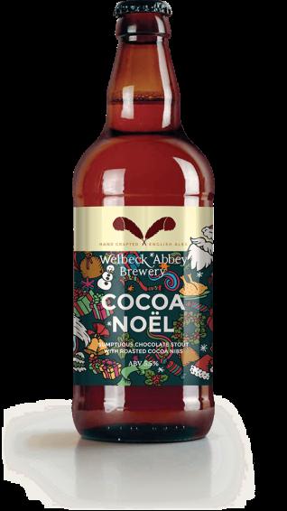 Bottle Mockup Cocoa Noel